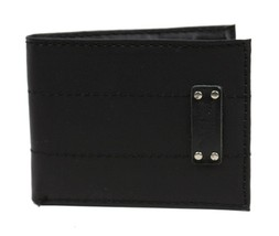 NEW LEVI'S MEN'S COATED LEATHER MANMADE INTERIOR SLIMFOLD WALLET BLACK 31LV13C8 image 1