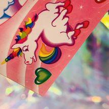 ⚡️SALE  S123 LISA FRANK Markie Unicorn Butterflies Hearts Stars HTF image 6