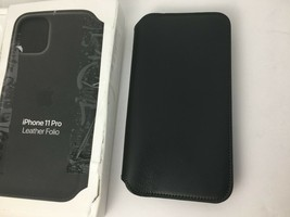 "Genuine Apple iPhone 11 Pro 5.8"" Leather Folio Case Cover Black MX062ZM/A - $55.75 CAD"
