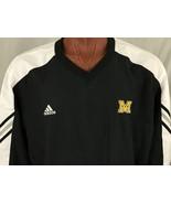 Adidas McQuaid Jesuit H.S. Black 3 Stripe Mesh Lined Windbreaker Pullove... - $22.39