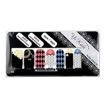 [Set of 4]Easy Handling 14 PCS Artificial False Nail Polish Sticker,Wonderland
