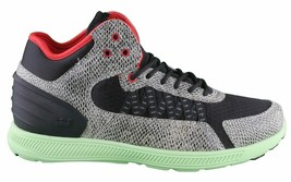 SUPRA Mens Snake Print Black Pale Green Owen Mid Sneakers Cross Trainer Shoes NW image 2