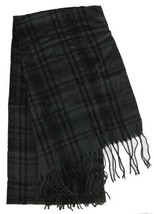 Lauren Ralph Lauren Carlotta Plaid Wrap Scarf (Black, One Size) - $29.90