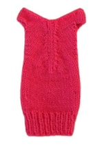 Barbie Doll Clothes Knit Neon Pink Off Shoulder Sweater Dress Handmade - $5.99