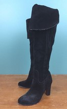 Sam Edelman Sutton Brown Over-the-Knee Black Suede Leather Boots - Size 6 M - $16.97