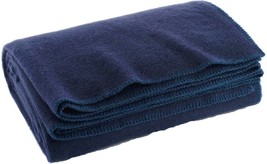 "Navy Blue Warm Winter Wool Camping Blanket 62"" x 80"" - $24.99"
