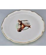 VINTAGE EQUESTRIAN THOROUGHBRED HORSE COLT CABINET PLATE 22KT GOLD - $129.00