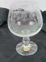 """Bohemia Crystal Stout Brandy Clear Crystal Glass Etched Rock Stem 4 7/8"""" - $23.74"""