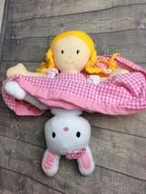 Miles Kimball Flip Plush Doll Bunny & Girl Easter Stuffed Animal #T1 - $5.94