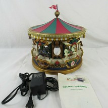 Mr Christmas Musical Carousel Holiday Merry Go Round Doesn't Rotate Animated  - $59.39