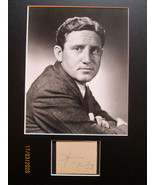 SPENCER TRACY (ORIGINAL AUTOGRAPH) MATTED WITH CLASSIC PHOTO - $399.99