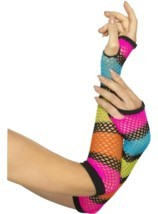Fishnet Gloves, Long, One Size - $7.70 CAD