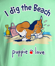 Puppie Love Rescue Dog Adult Unisex Short Sleeve Graphic T-Shirt, Digging Pup image 2