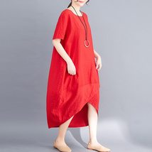 Maternity Dress O Neck Loose All Match Chic Breathable Mom Dress image 2