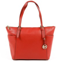 Red ONE SIZE Michael Kors Womens Handbag JET SET ITEM 35F6GTTT9L RED - $314.20