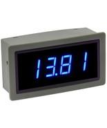 Blue LED - ME-DV42333 - 8.5-30 VDC Panel Meter with Auto Brightness - $19.75