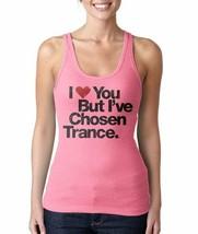 Donna i Love You But ' Ve Chosen Trance Musica Rosa Acceso Serbatoio Maglia Nwt