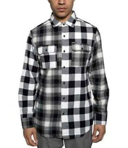 Sean John Men's Pattern Blocked Shirt(Black, Medium) - $53.45