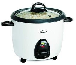 Rival 10-Cup Rice Cooker With Steamer Basket White/Black (Rc101) - $24.59