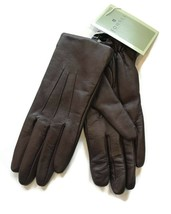 FOWNES  brown Leather Dress driving Gloves size 7 - $37.87