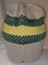 John Deere LP67786 Acrylic Knitted Tan Green And Yellow Beanie image 7