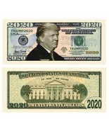 25 Donald Trump 2020 For President Re-Election Campaign Dollar Bill Note... - $217,83 MXN
