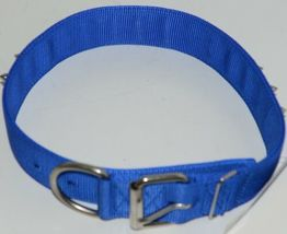 Valhoma 760 S24 BL Spike Dog Collar Blue Double Layer Nylon 24 inches Package 1 image 7