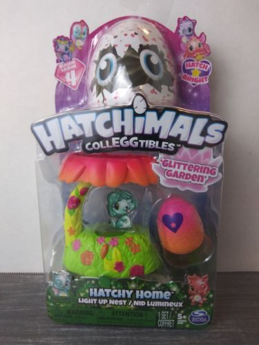 Hatchimals Colleggtibles season 4 Hatchy Home Light up Nest Glittering Garden