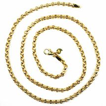 9K YELLOW GOLD CHAIN ROLO CIRCLE LINKS 3.5 MM THICKNESS, 20 INCHES, 50 CM image 4