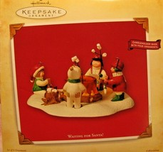 "Hallmark Keepsake Ornament  Children ""Waiting for Santa"" Candle holder t... - $25.73"