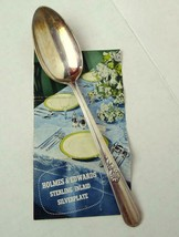 "Holmes Edwards Table Spoon Youth Pattern 8 1/2"" circa 1945 Inlaid Silverplate - $12.82"