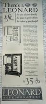 Leonard Refrigerators Print Advertisement Art 1920s - $5.99