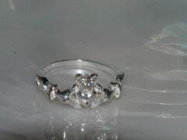 Estate NVC 10 Silver Signed Celtic Two Hands with Heart & Crown Claddagh... - $11.29