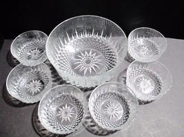 Arcoroc France Diamond Cut Starburst Clear Glass Dessert Salad Bowls - S... - $444,67 MXN