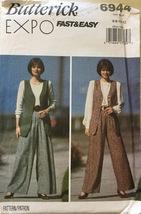 Butterick 6944 Misses's Fast & Easy  Pants & Ve... - $7.49