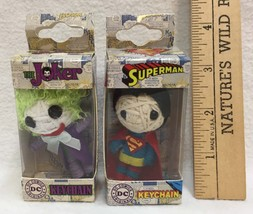 Keychains DC Comics Superheroes String Doll The Joker And Superman Lot of 2 - $9.85