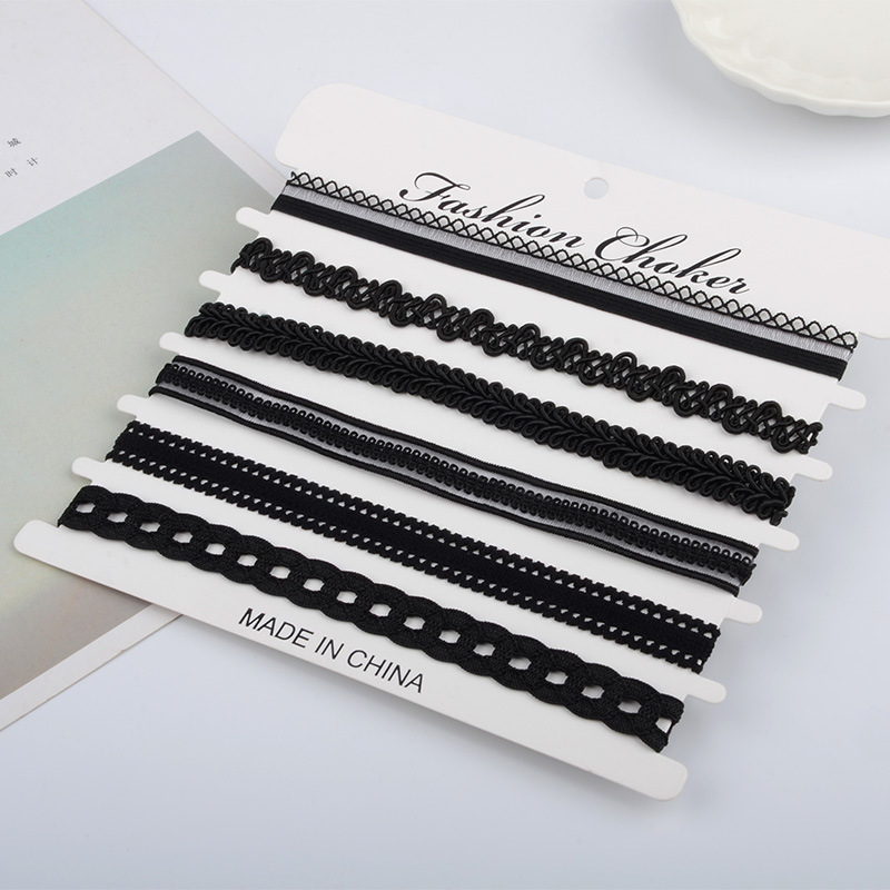 Kittenup 6Pcs/sets Fashion New Black Sexy Chokers Necklaces for Women image 5