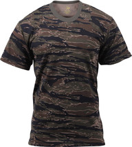 Mens Tiger Stripe Camouflage Tactical Military Short Sleeve T-Shirt - $11.99+