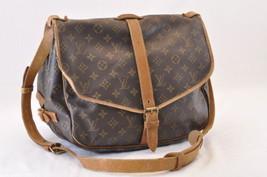 LOUIS VUITTON Monogram Saumur 35 Shoulder Bag M42254 LV Auth 6272 - $220.00