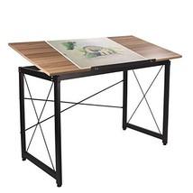Elevens Drawing Desk Adjustable, Large Drafting Table Computer Desk Wood... - $89.09