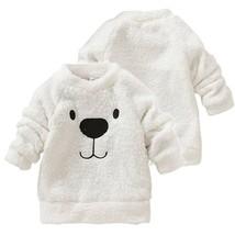 Children Baby Clothing Boys Girls Lovely Bear Furry White Coat Thick Swe... - $23.23