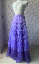 TIERED Tulle Skirt Wedding Tulle Outfit Women Plus Size Layered Long Tutu Skirt  image 7