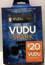 NIB Vudu Spark Digital Media Streamer w/Remote Sealed Movies TV Shows RF TV - $12.61