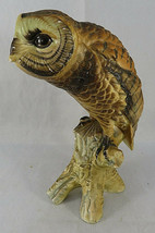 "Vintage BARN OWL Figurine Bird Ceramic Model Hand Painted JAPAN 6""1/2 Tall - $40.00"