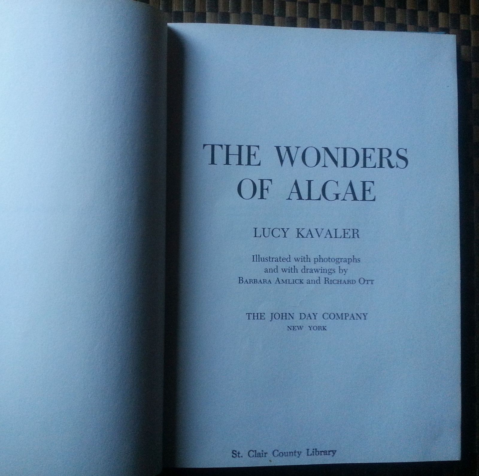 The Wonders of Algae by Lucy Kavaler 1961 HB World Hunger