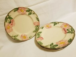 "Set of 3 Franciscan Desert Rose Salad Plates 8"" USA Vintage TV Backstamp - $24.74"