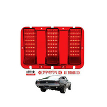 67 68 Ford Mustang Red LED Sequential Rear Tail Brake Stop Light Lamp Lens - $69.95