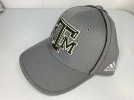 New SMALL/MEDIUM Adidas Texas A&M Aggies Camo Cap Hat Structured Flex Fit Fitted - $9.89
