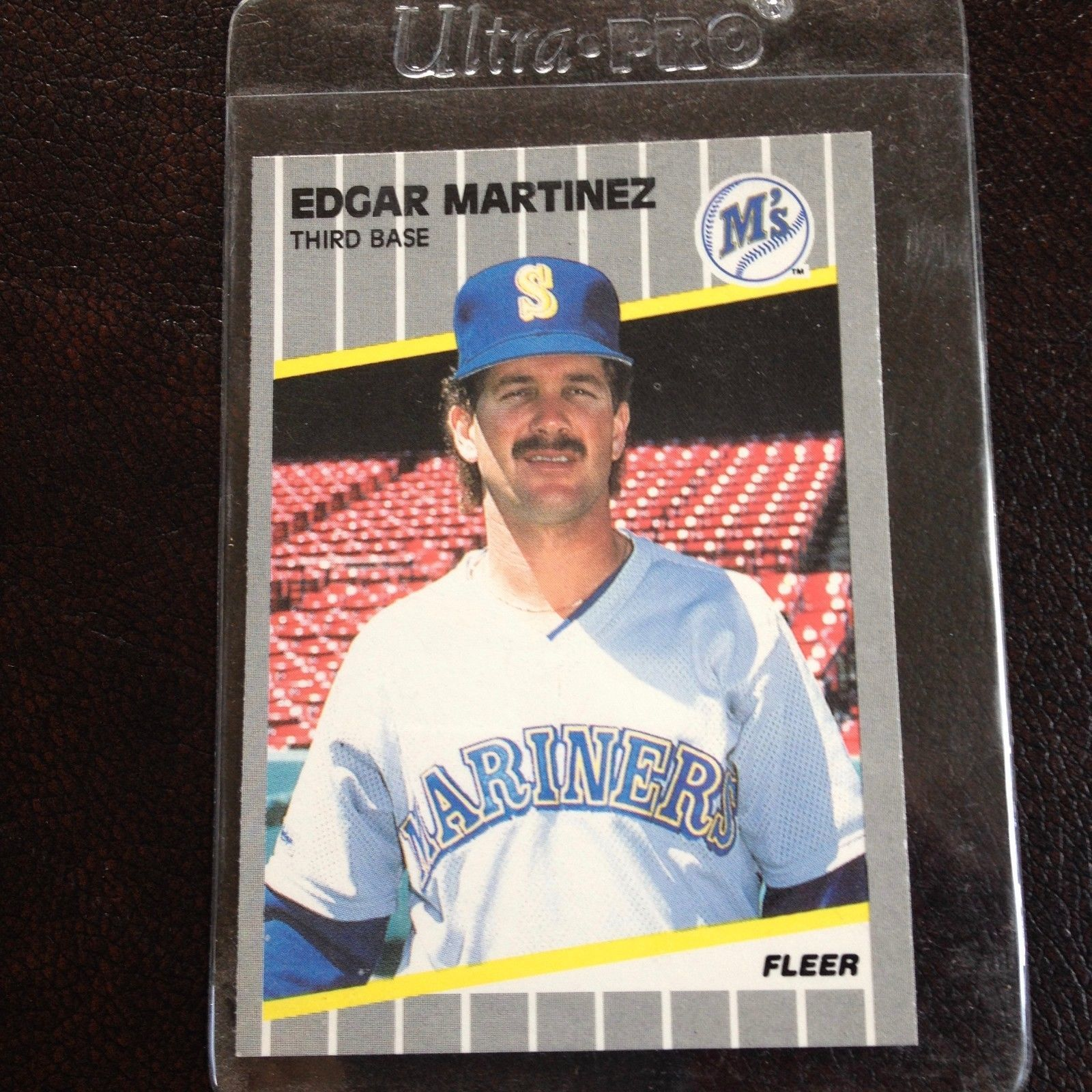 1989 Fleer Edgar Martinez Baseball Card #552 And 50
