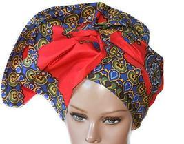 Red Dashiki Headwrap/African Turban/Head wrap Women/Head wrap Scarf/Head... - $57.42